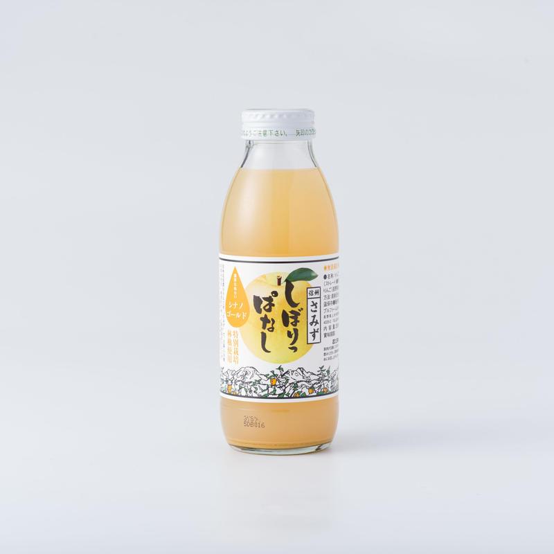 しぼりっぱなしりんごジュース「シナノゴールド」 350ml  6本