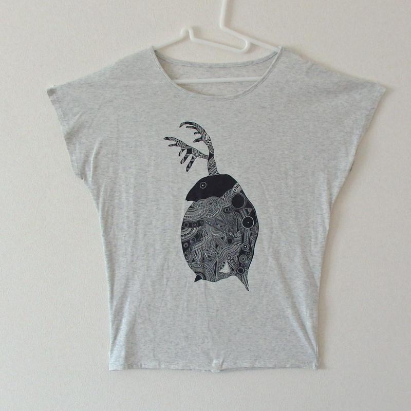 受注生産【レディースTシャツ】ミジンコ