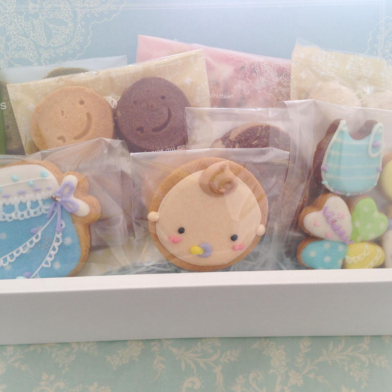 【B-8】名入れ、メッセージ無料★ベビー焼き菓子ギフトM