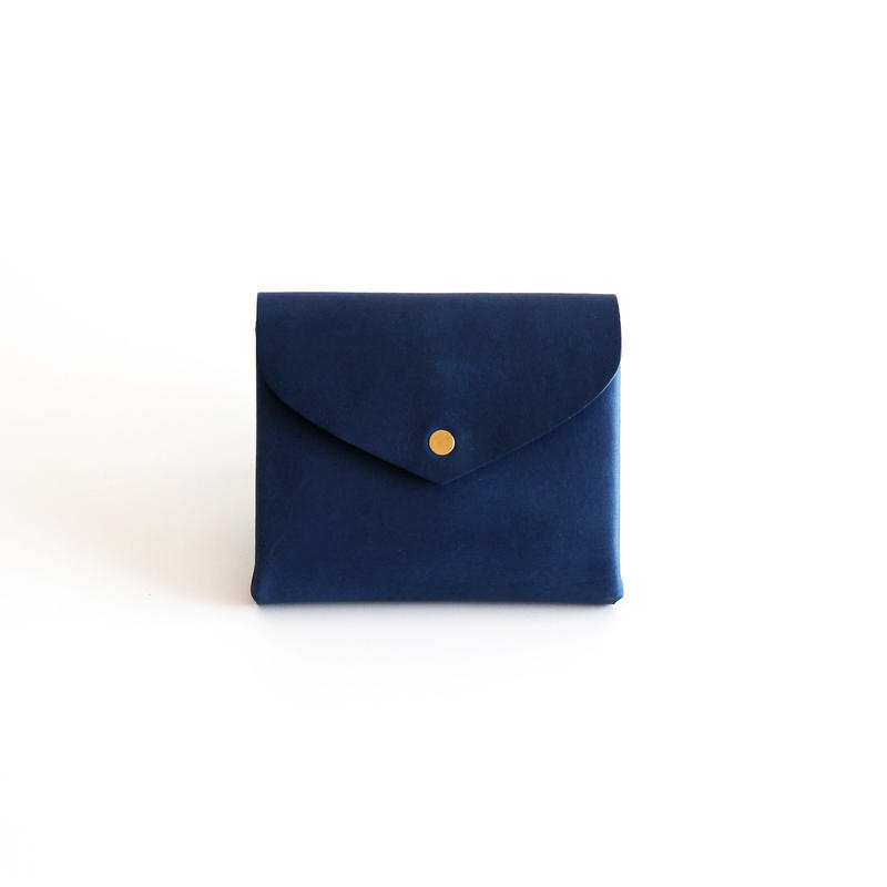 [style&things]  basic short wallet #navy