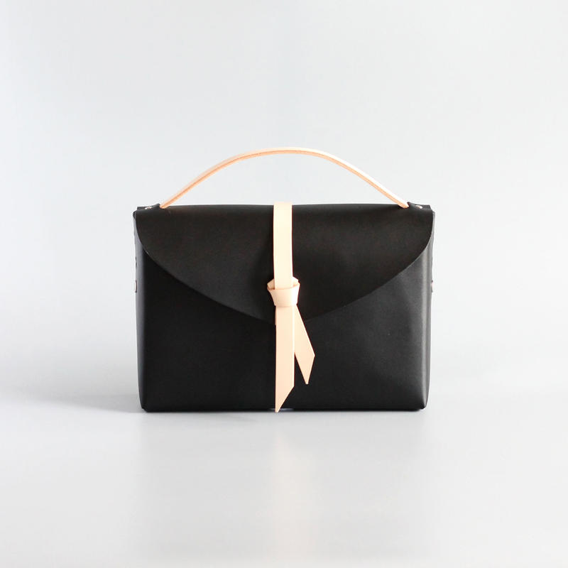 [style&things] ori box bag slim #black x beige
