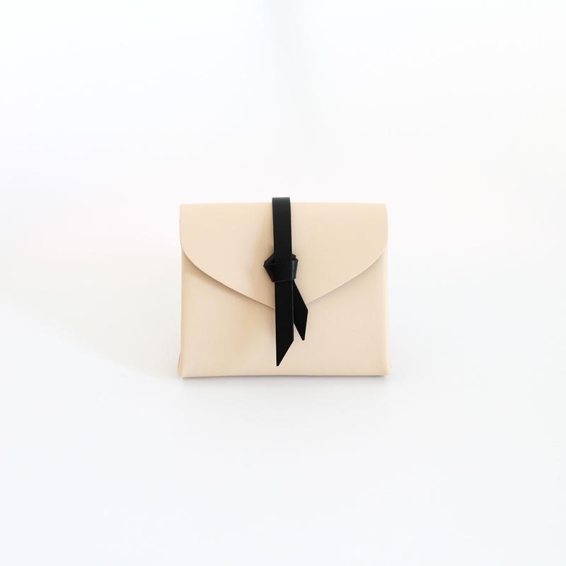 [style&things]  ori short wallet #beige x black