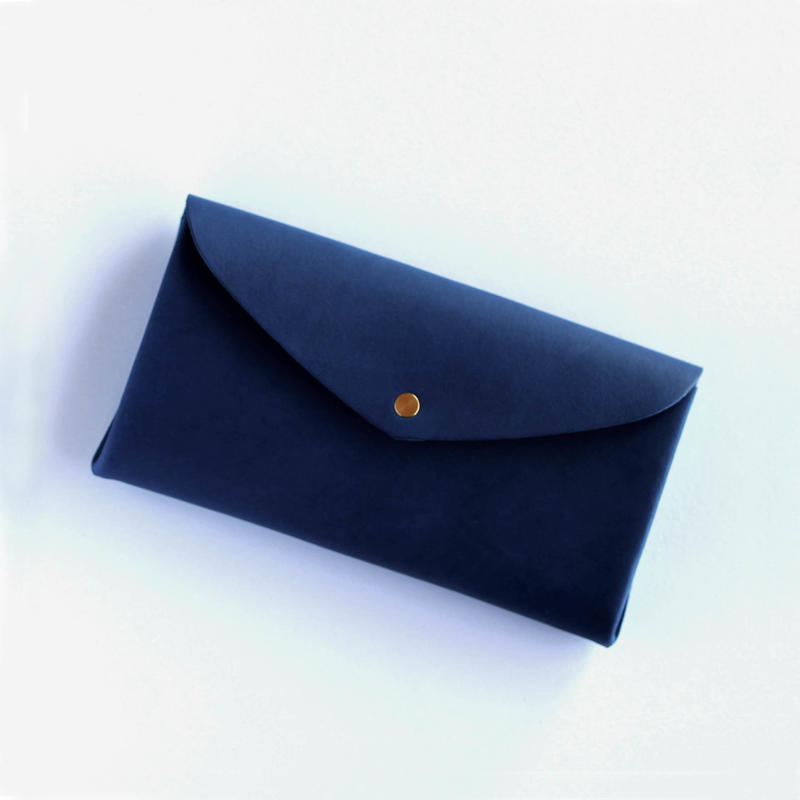 [style&things]  basic long wallet #navy