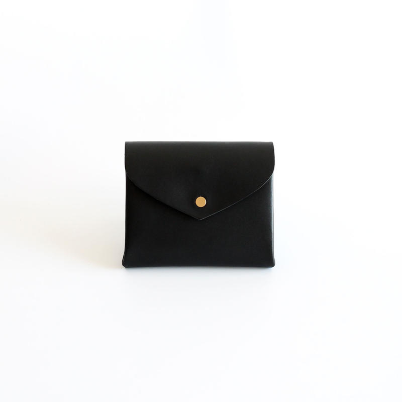 [style&things]  basic short wallet #black