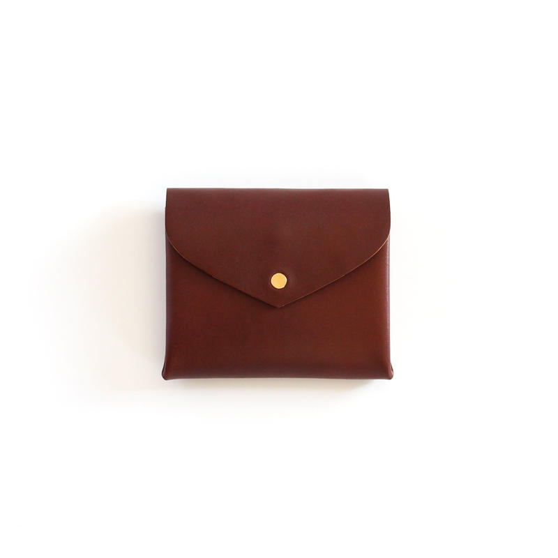 [style&things]  basic short wallet #brown