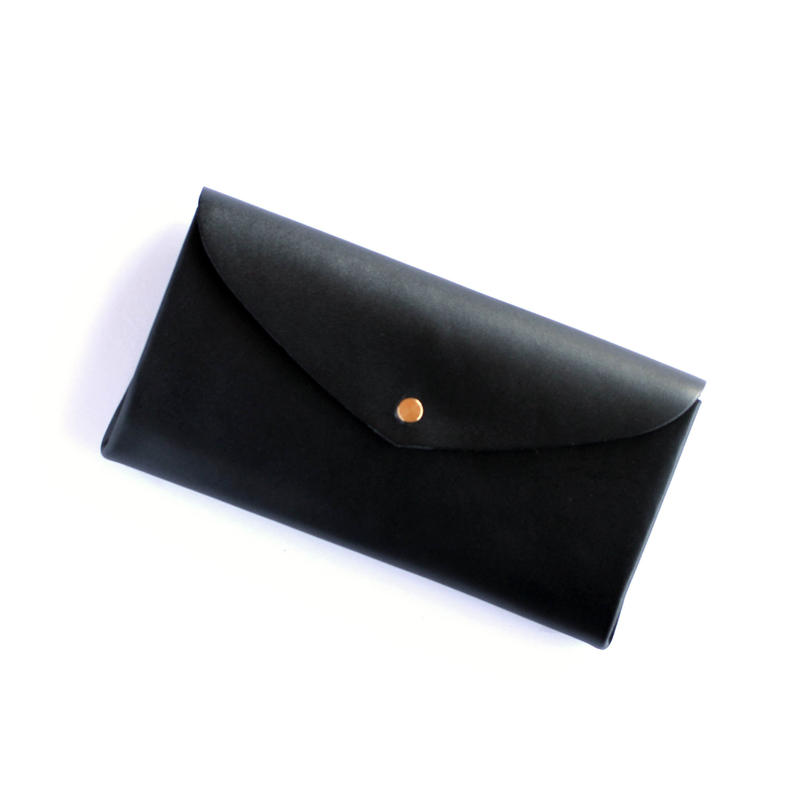[style&things]  basic long wallet #black