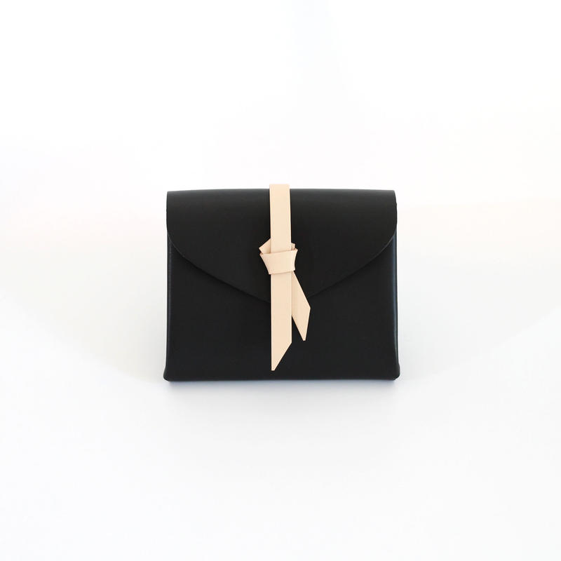 [style&things]  ori short wallet #black x beige