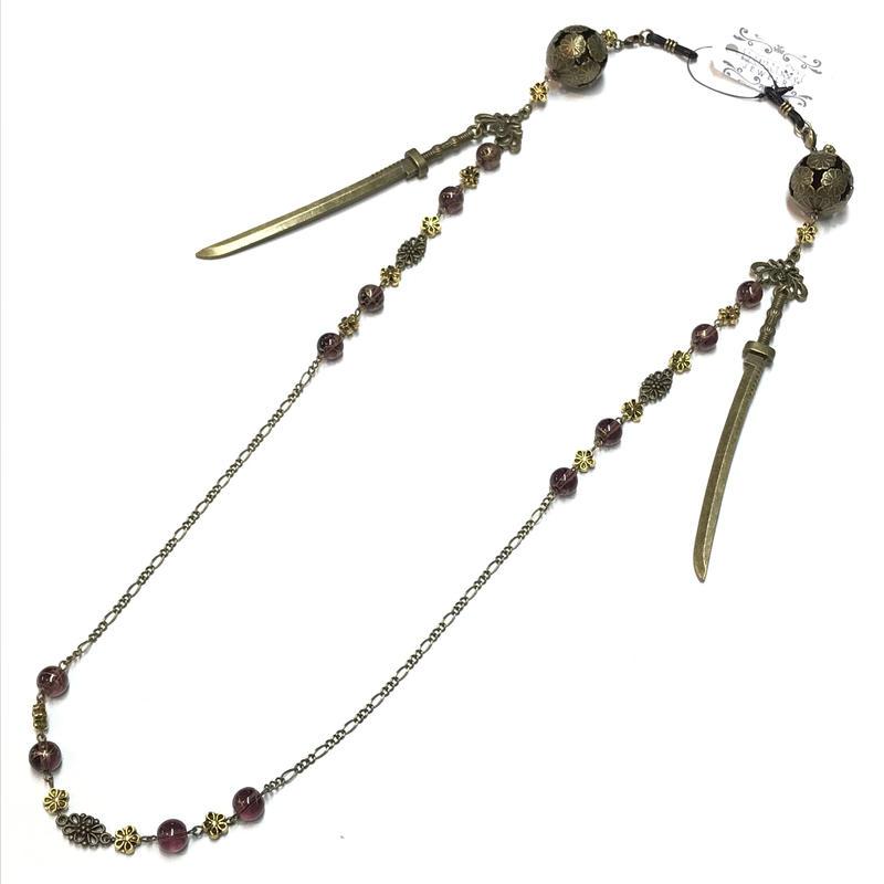 Phantom Jewelry/ファントムジュエリー 鞠と刀のメガネチェーン 紫