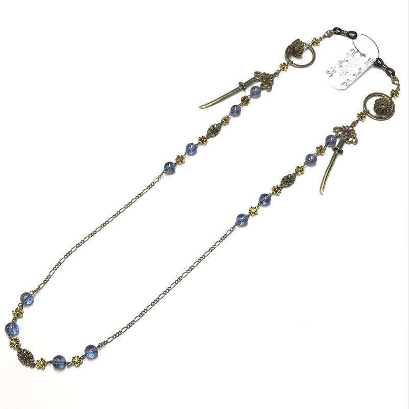 Phantom Jewelry/ファントムジュエリー 蝋燭と短刀のメガネチェーン 青