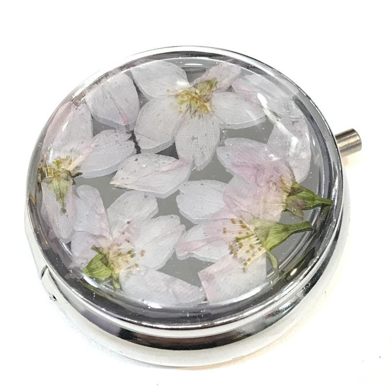 Limon 桜のピルケース 円形 6