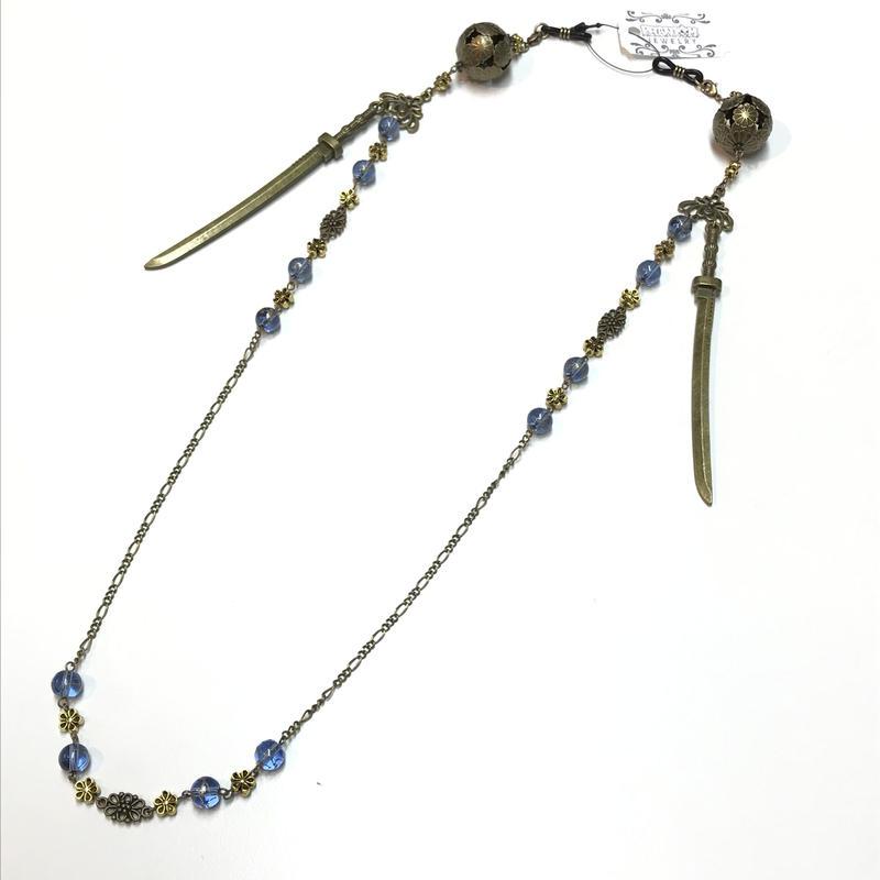 Phantom Jewelry/ファントムジュエリー 鞠と刀のメガネチェーン 青