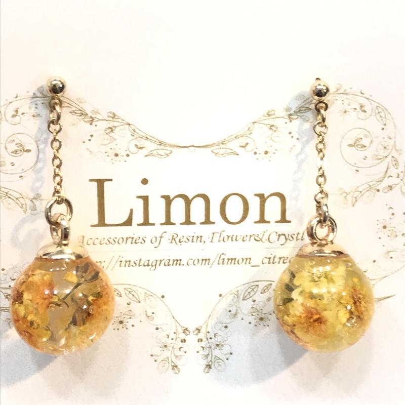 Limon 桜のあめ玉ピアス ミモザ 5
