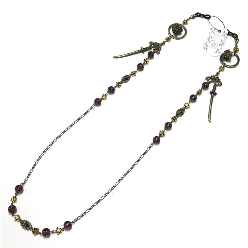 Phantom Jewelry/ファントムジュエリー 蝋燭と短刀のメガネチェーン 紫