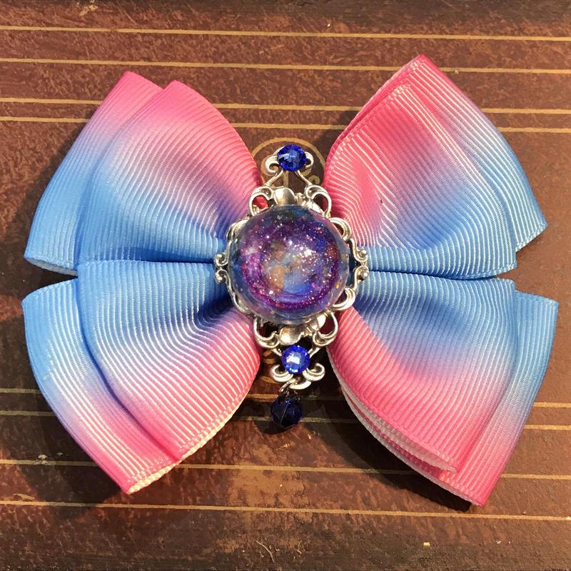 N0.96/ナンバークロ 紫陽花のおりぼん RB-D2 青×ピンク