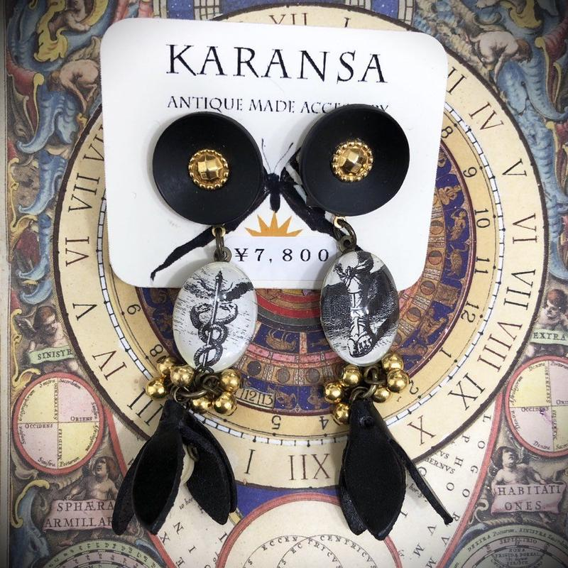 KARANSA/カランサ ヘルメスのオリジナルカボションイヤリング KE-15