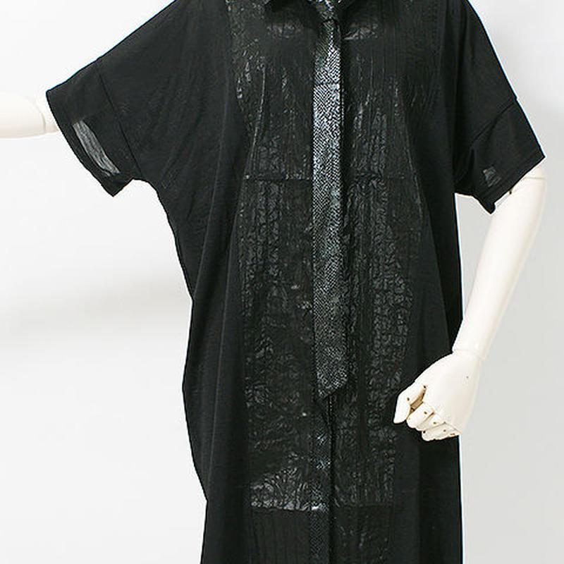 QUTIE FRASH/キューティーフラッシュ タイ付きシャツチュニック 7579-BL