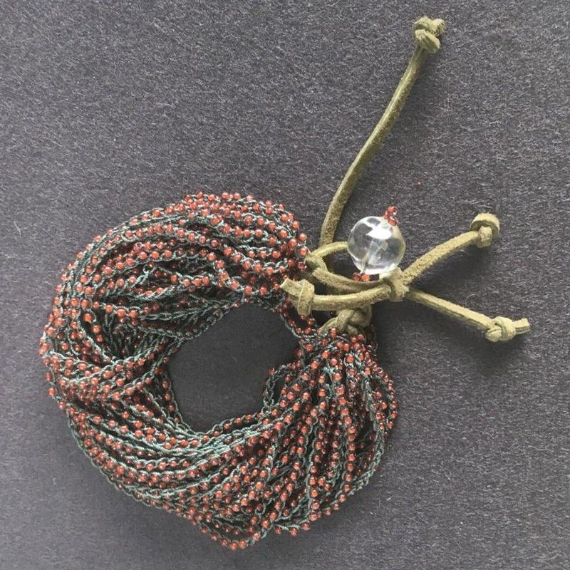 Beads braided Bracelet 011 - ビーズ編みブレスレット 011