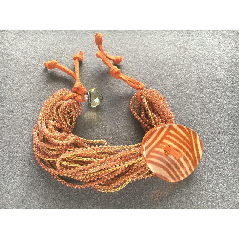 Beads braided Bracelet 012 - ビーズ編みブレスレット 012