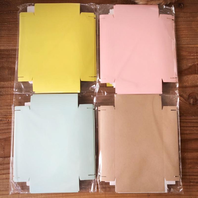 はんこ素材:貼り箱キット(無地ハガキサイズ)