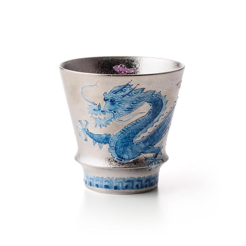 プラチナ開運龍(青)【PREMIUM EDITION】−至高の焼酎グラス−