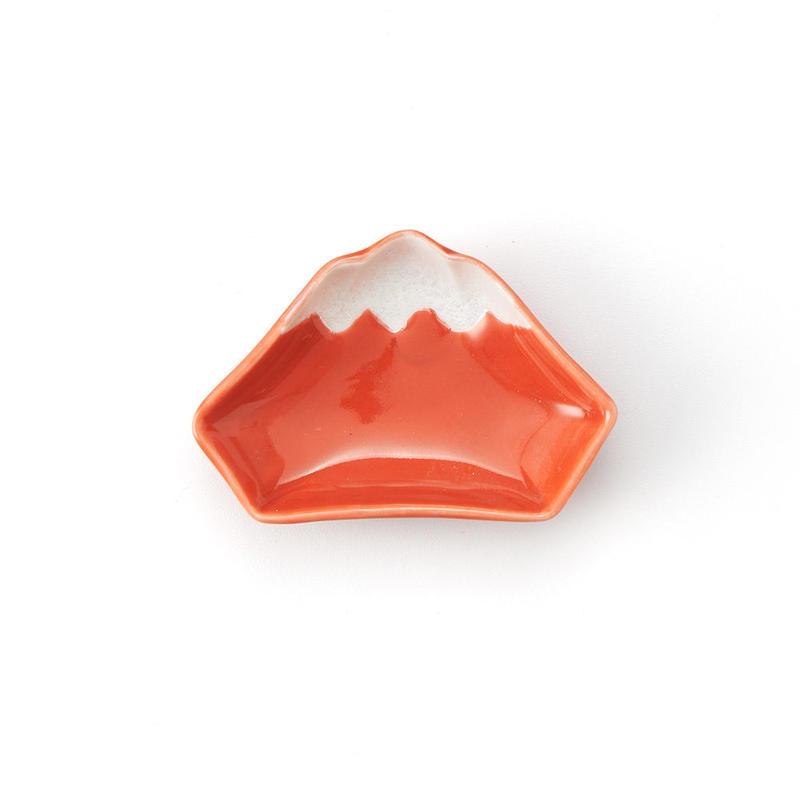 赤富士 手塩皿