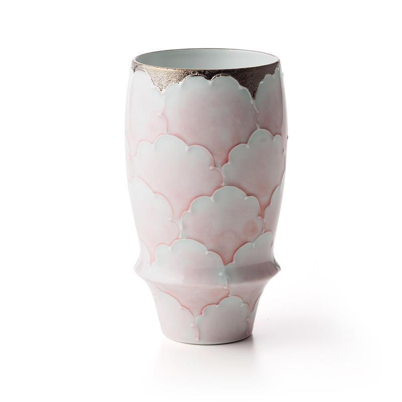 プラチナ牡丹(ピンク)−プレミアムビアグラス−