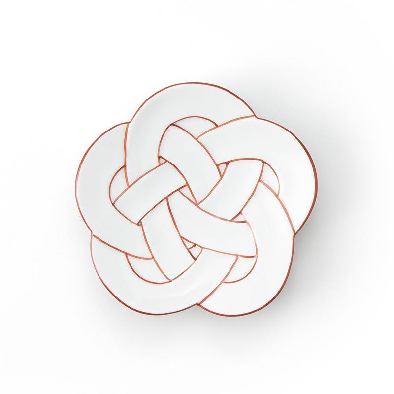 梅むすび小皿 赤線