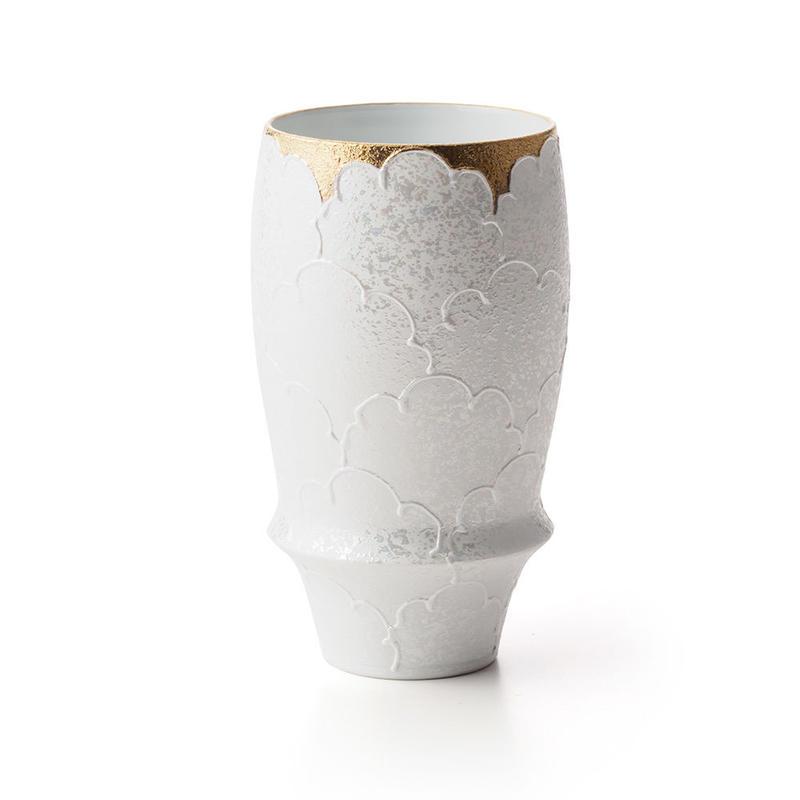 パール牡丹(ゴールド)−プレミアムビアグラス−