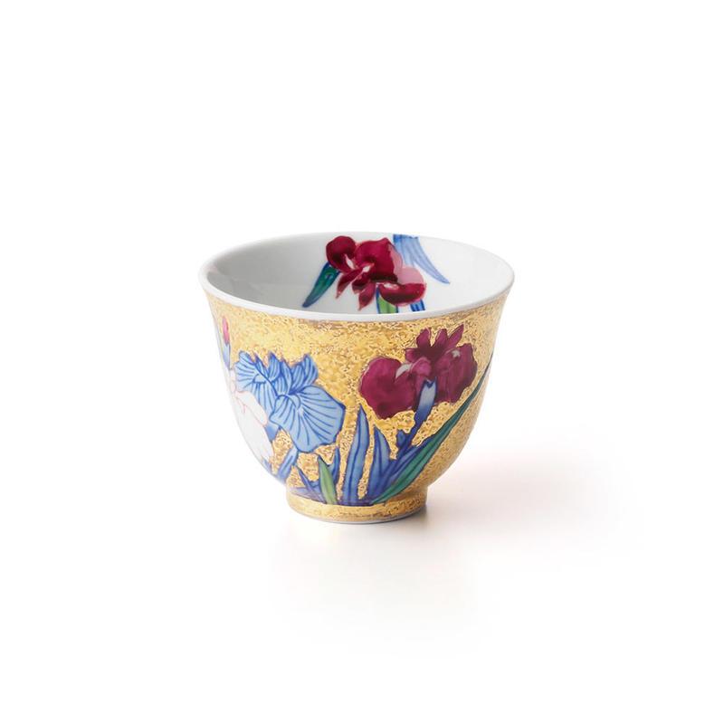 金彩 菖蒲 -iris- 酒器 ぐい呑み