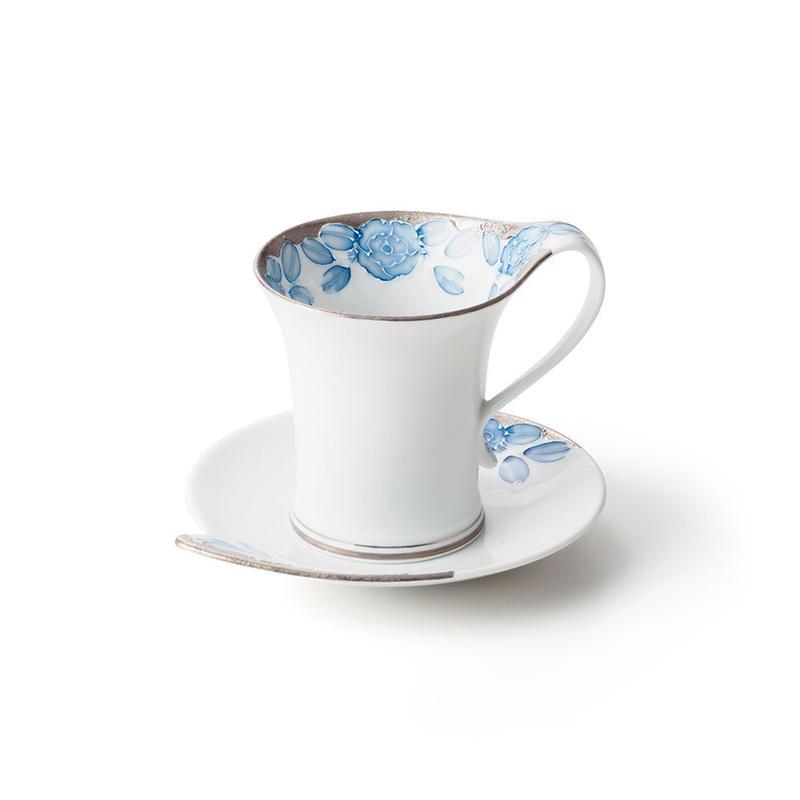 プラチナローゼ(ブルー)−流転− カップ&ソーサー