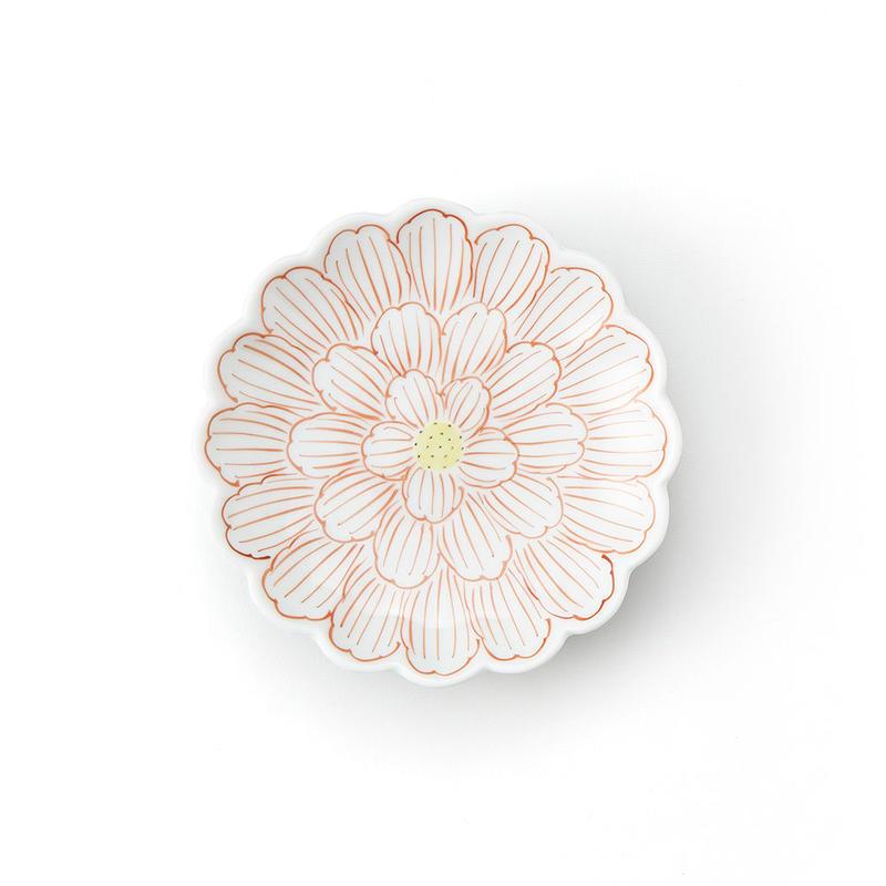 錦牡丹菊型 3.5寸皿