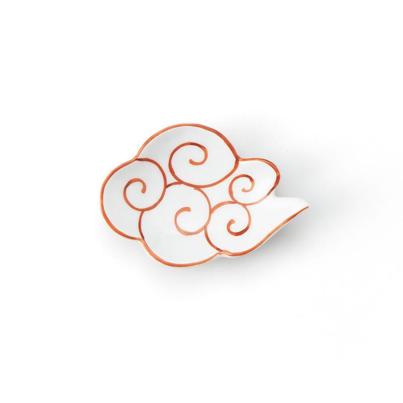 赤筋斗雲 雲型豆小皿