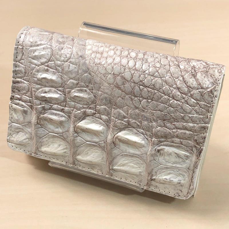三つ折り財布 クロコダイル ヒマラヤ レザー