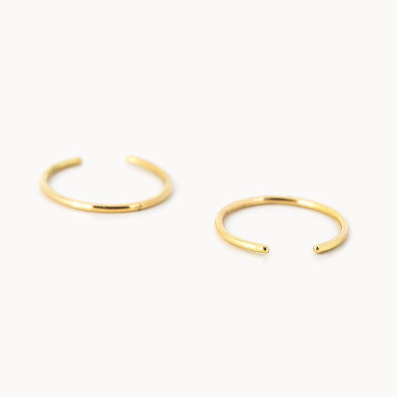 Minimal Hoop Earring | M  シングル