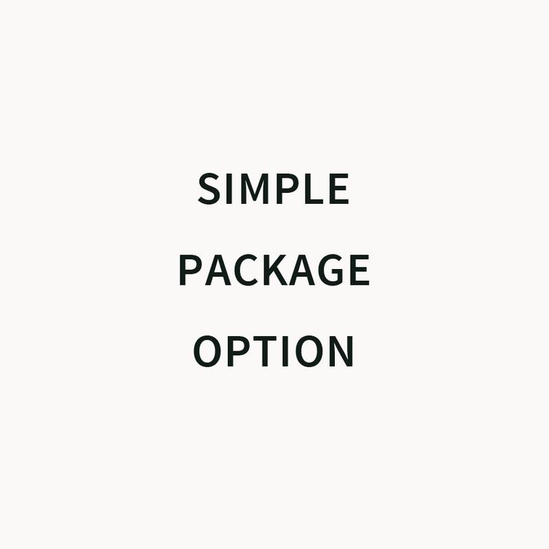 Simple Package Option - 簡易包装オプション