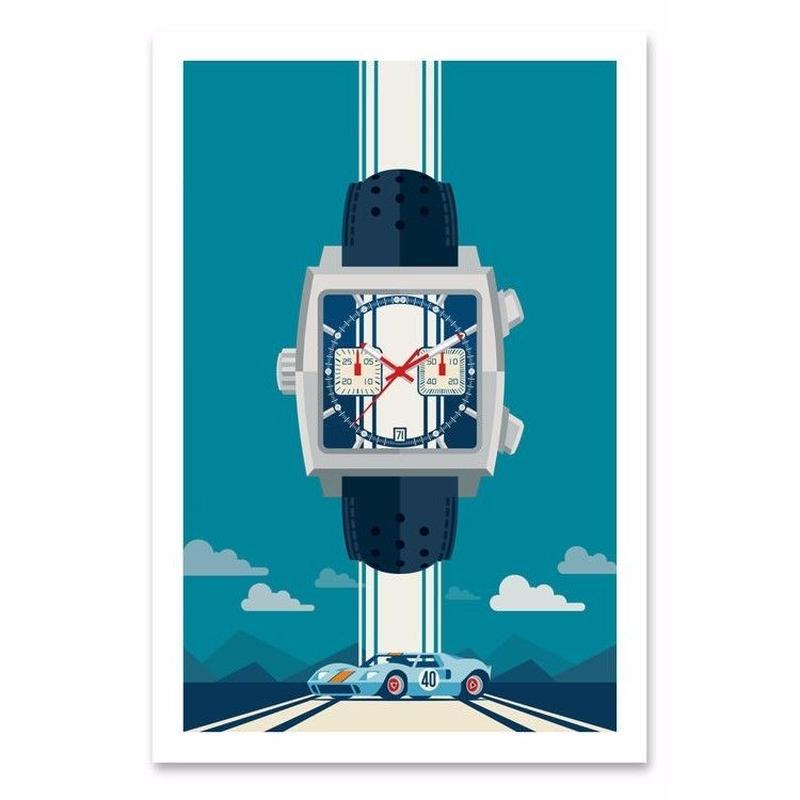 EERUNE  'McQueen Monaco'  |  Print Art  |  フレーム付
