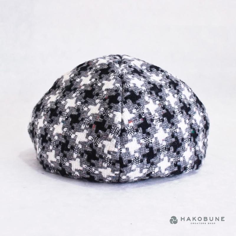 ベレーなお帽子 柄 majibon