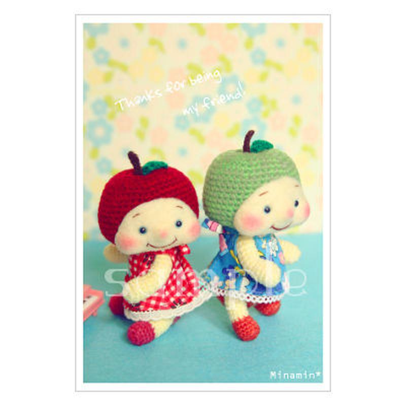 フルリちゃん-Thanks for being my friend ! ポストカード Minamin