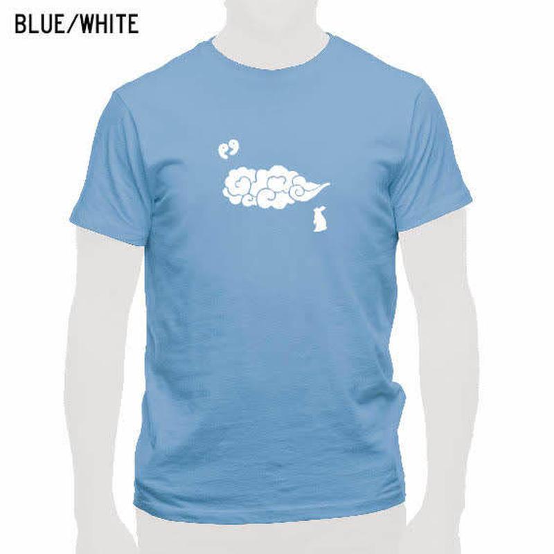 出雲の風景Tシャツ ブルー/メンズ・レディース