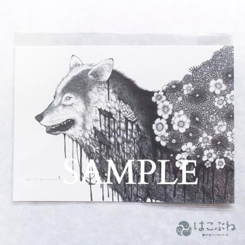 ゴミ箱の人 B5ポストカード / yuni