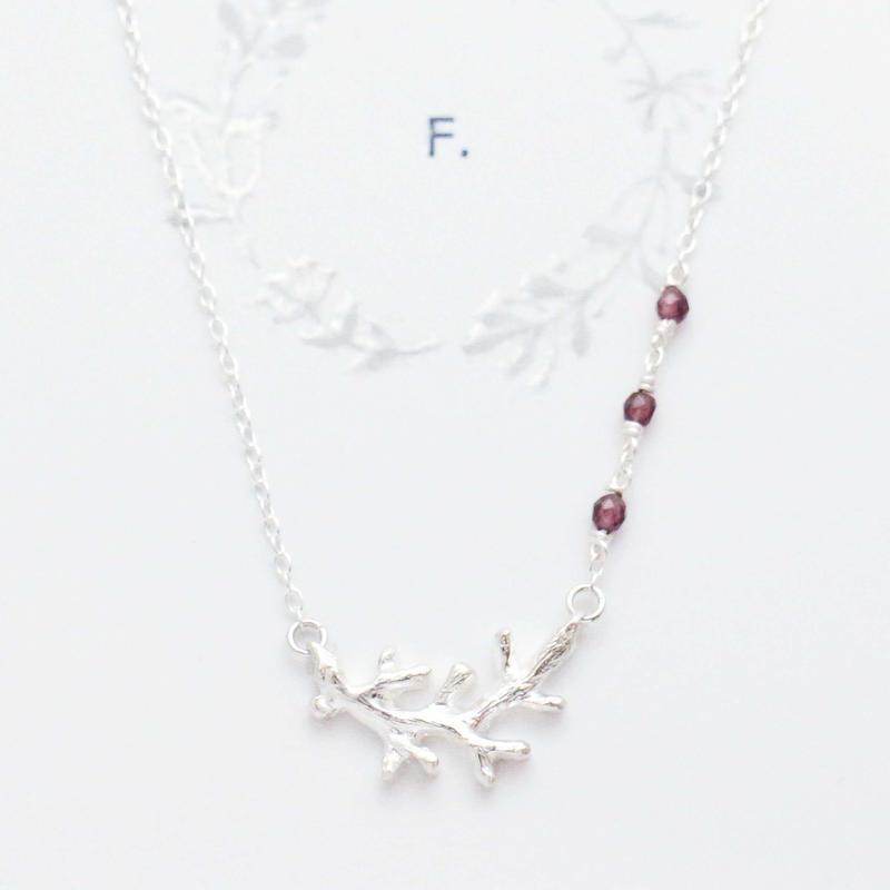 1452 silver・小枝のモチーフのネックレス / F.yamaneko