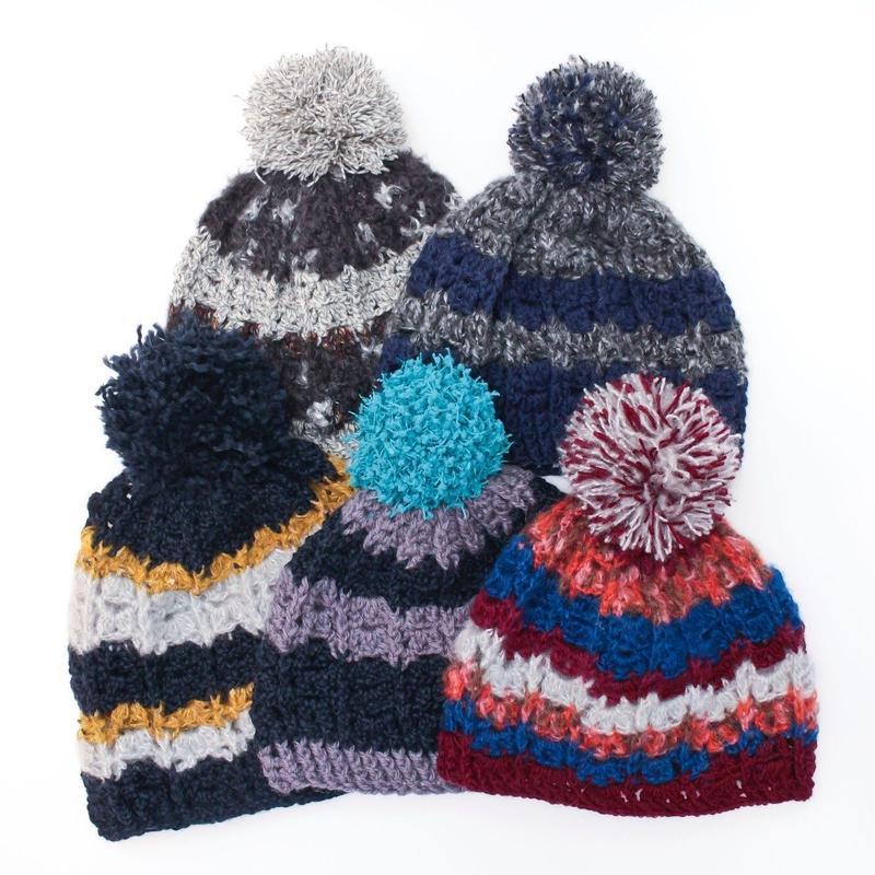 ポンポンポンニット帽  / Miroru