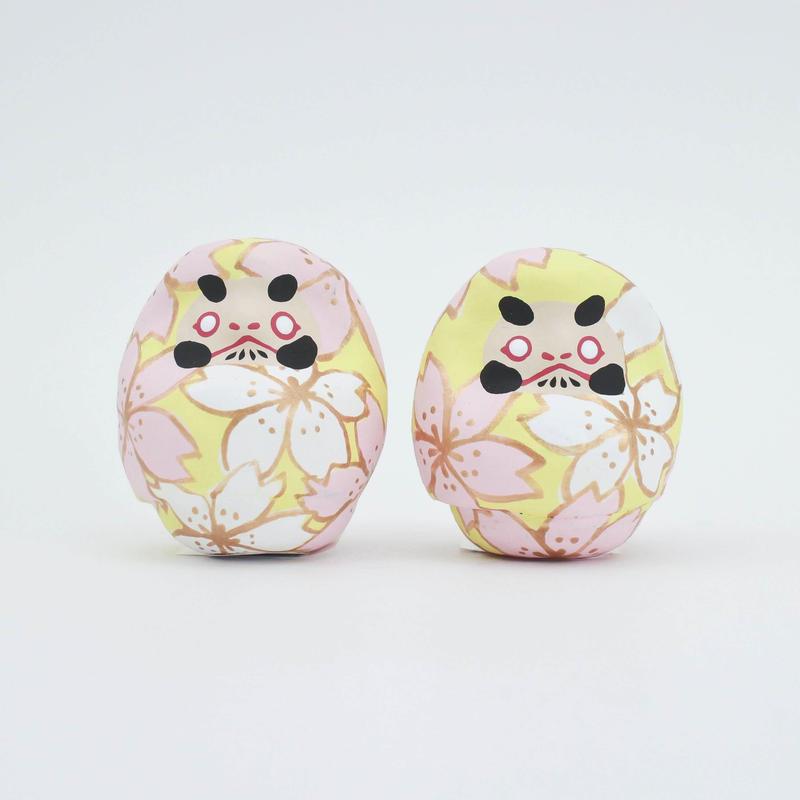 桜だるま・黄ベース / 山口さくら