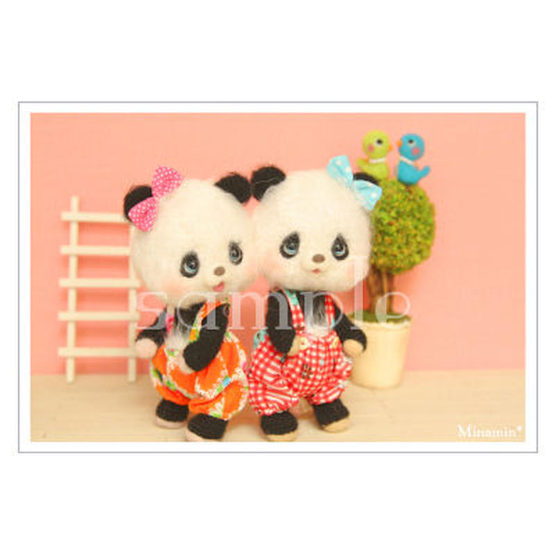 #96・97 双子パンダ ポストカード Minamin