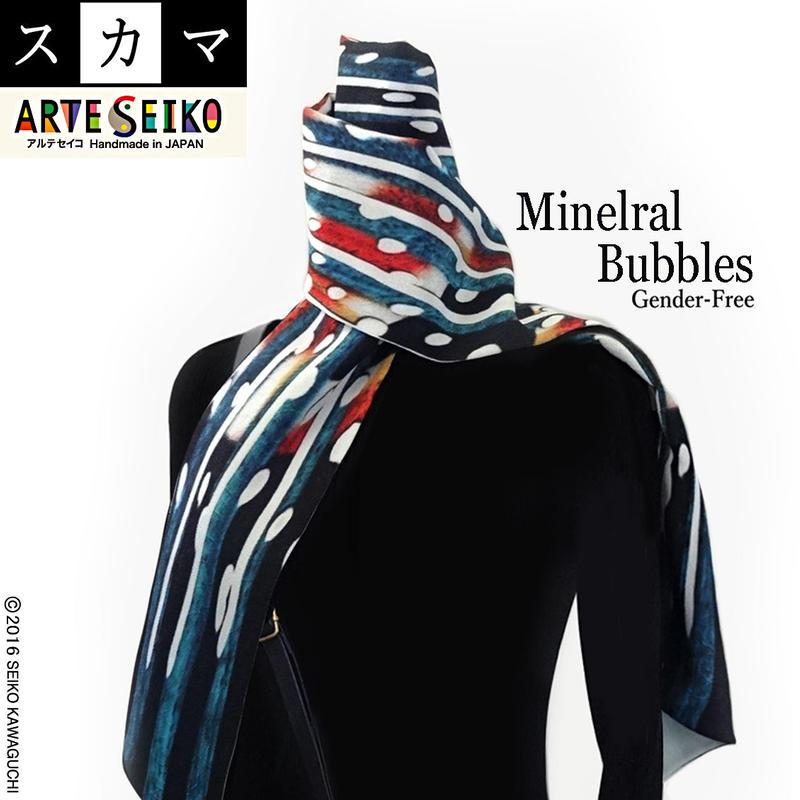 No.57 SCA★SCAMA スカマ【Mineral Bubbles】オリジナルプリント &ハンドメイド / コツコツ仕上げ少数販売品