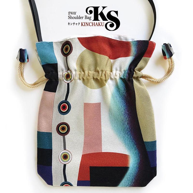 No.29 KSB★2WAY   Shoulder Bag KINCHAKU  【Harmony】 巾着ショルダーバッグ【 ハーモニー 】[内ポケット+ビニールポーチ付]