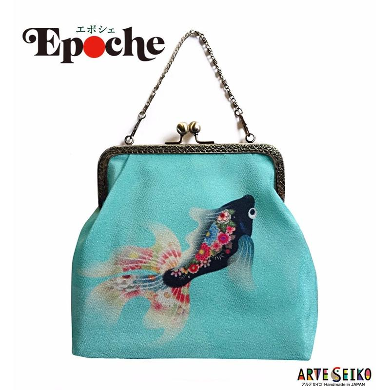 2WAY Epoche 【Goldfish Brack 】エポシェ【黒金魚】Party bag & Daily!   [内ポケット付]