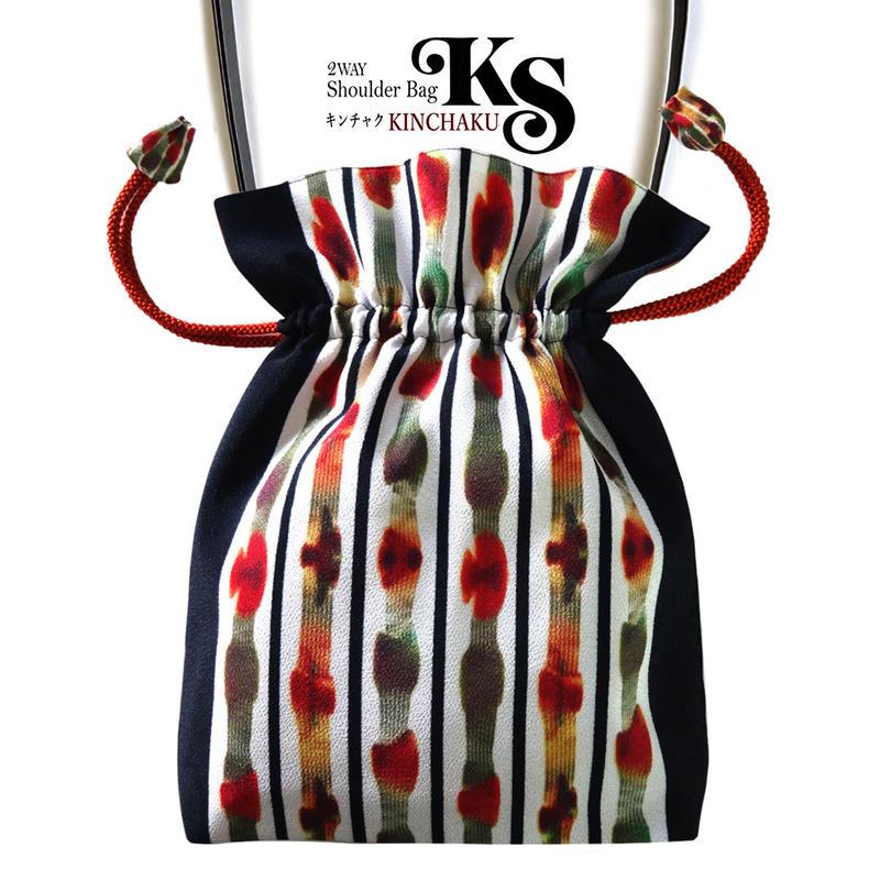 No.63 KSB★2WAY   Shoulder Bag KINCHAKU  【 Nana】 [内ポケット+ビニールポーチ付]  のコピー
