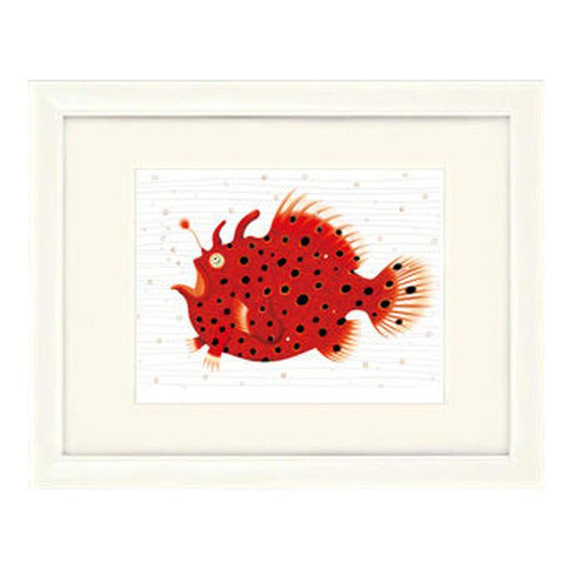 No.116★【 赤い深海魚】額装ジークレー版画(デジタルリトグラフ)