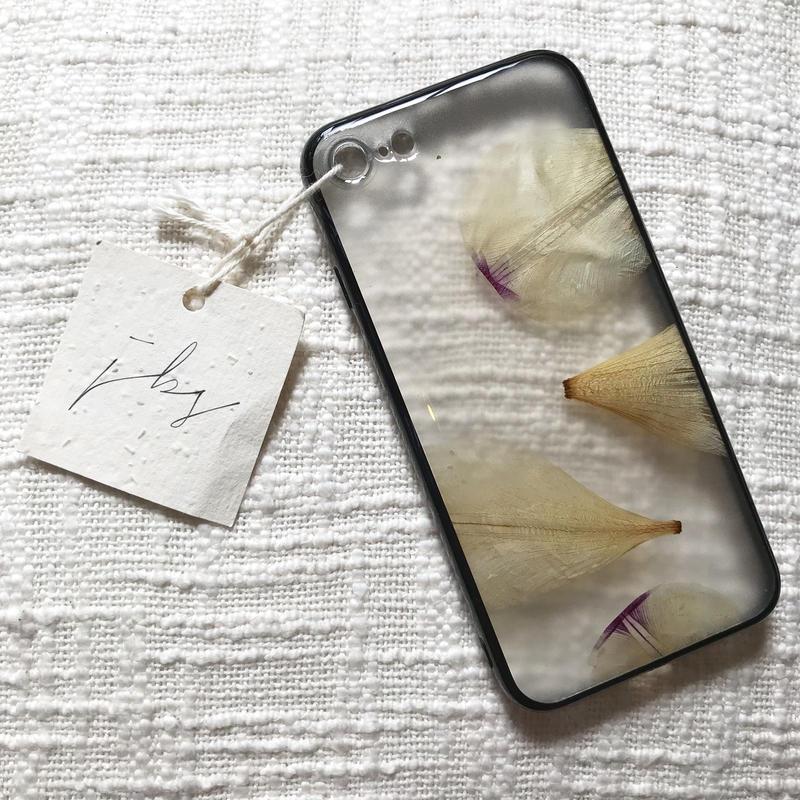 フローラル i phone 7/8 case  (ブラック)⑤